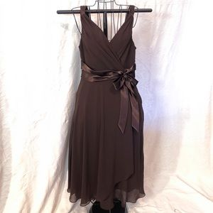 Chocolate brown chiffon Jones Wear Dress 12